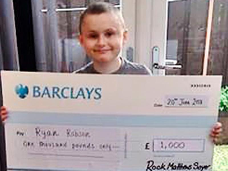 Raising money for a very brave boy