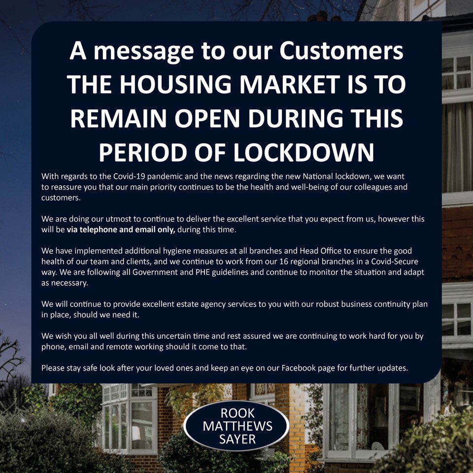 A lockdown message to our Customers