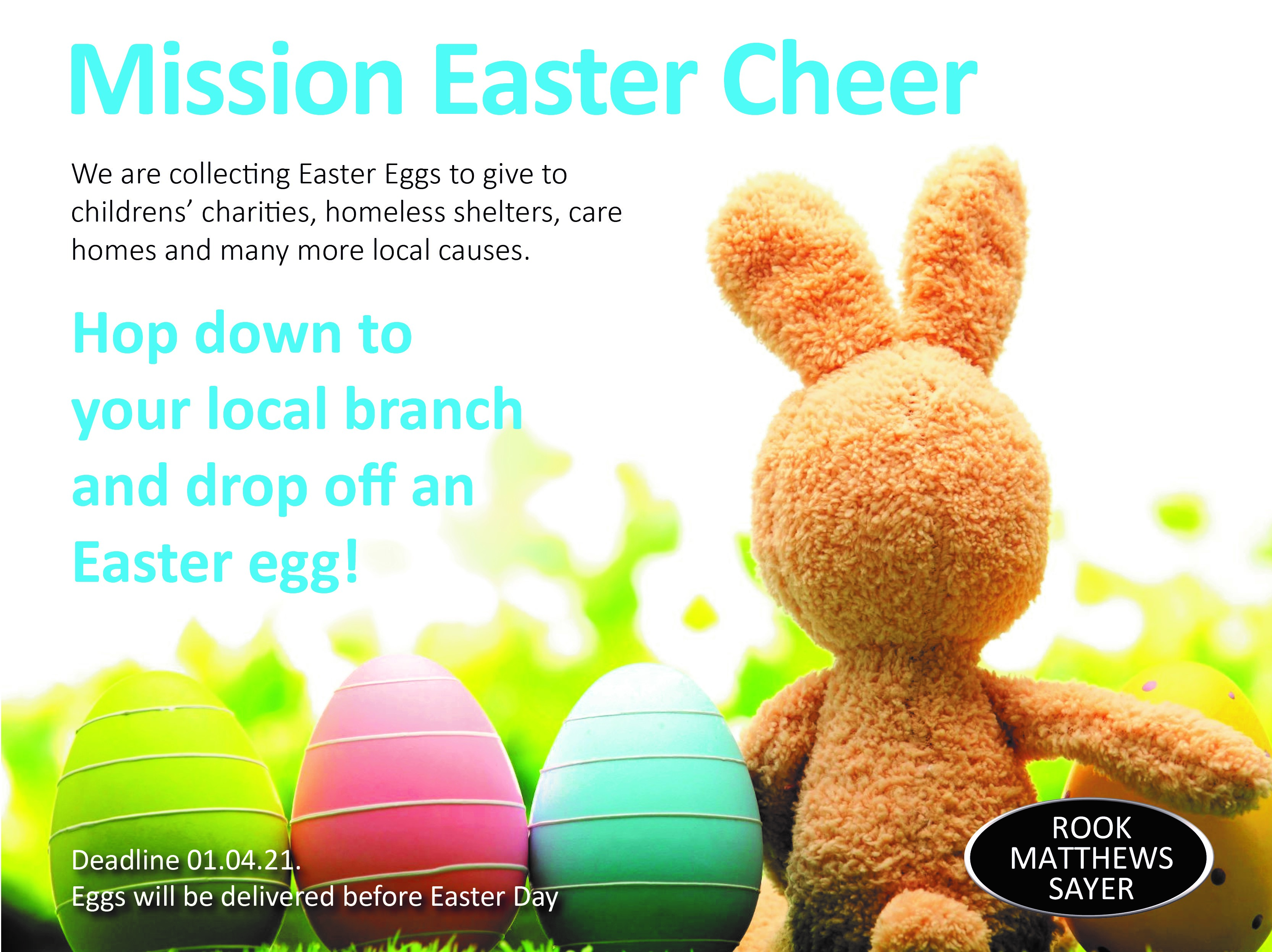 Easter charity Campaign – It's back!