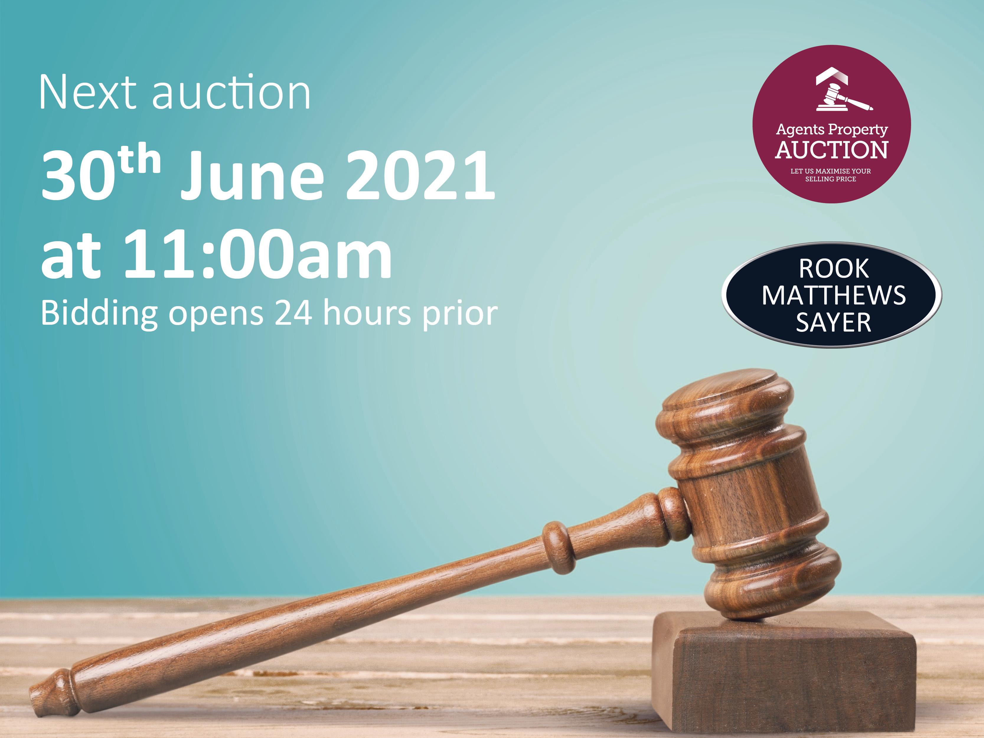 Next Property Auction 29/06/21 – 30/06/21