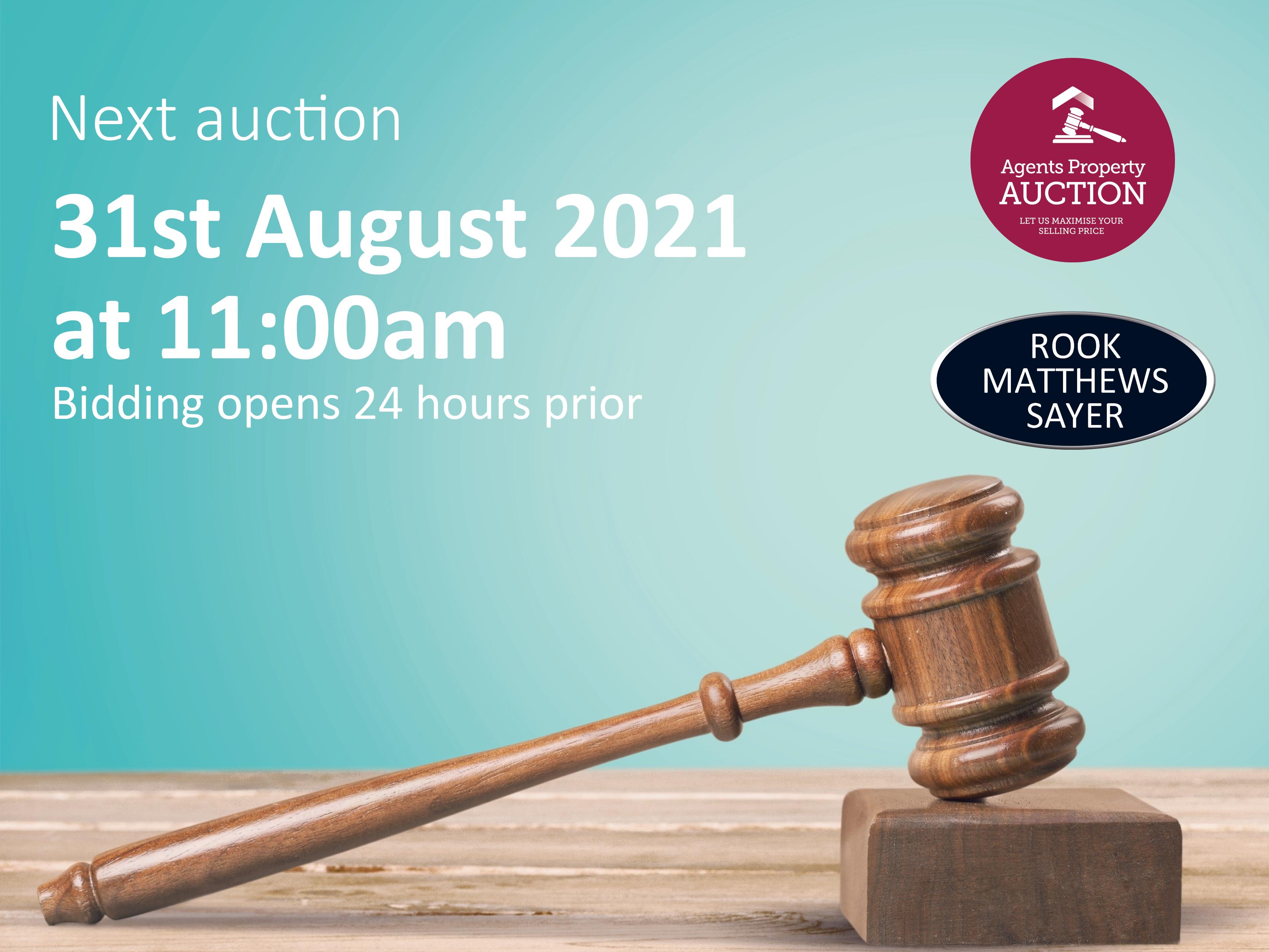 Next Property Auction 30/08/21 – 31/08/21