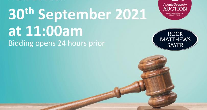 Next Property Auction 29/09/21 – 30/09/21